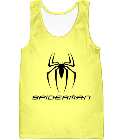 Image of Awesome Spiderman Logo Promo Yellow T-Shirt SP123