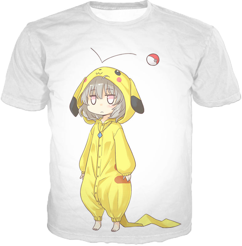 Pokemon Super Cool Pokemon Promo Pikachu Uniform Awesome White Anime Hooded Tank Top PKM150