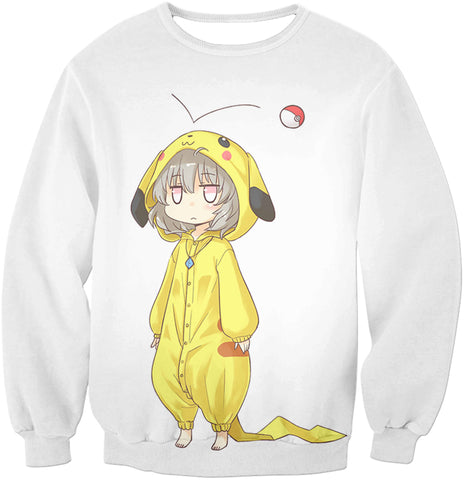 Image of Pokemon Super Cool Pokemon Promo Pikachu Uniform Awesome White Anime Hooded Tank Top PKM150