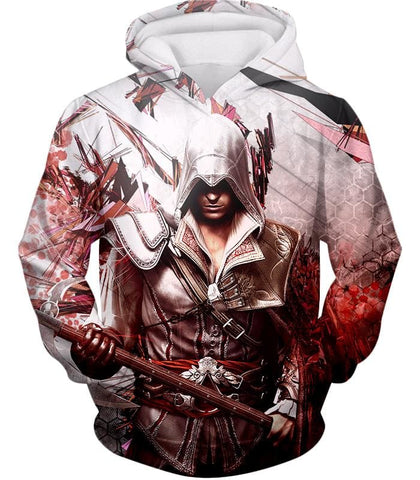 Ultimate Ezio Auditore Cool Action Assassin Hero Graphic Hooded Tank Top Ac016 - Hoodie / Us Xxs (Asian Xs) - Hooded Tank Top