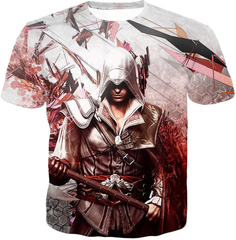 Ultimate Ezio Auditore Cool Action Assassin Hero Graphic Hooded Tank Top Ac016 - T-Shirt / Us Xxs (Asian Xs) - Hooded Tank Top
