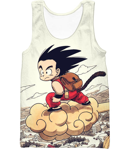 Image of Dragon Ball Z T-Shirt - Kid Goku Riding Flying Nimbus