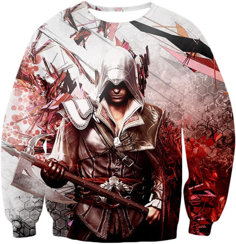 Ultimate Ezio Auditore Cool Action Assassin Hero Graphic Hooded Tank Top Ac016 - Sweatshirt / Us Xxs (Asian Xs) - Hooded Tank Top