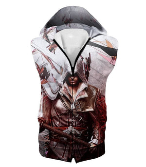 Ultimate Ezio Auditore Cool Action Assassin Hero Graphic Hooded Tank Top Ac016 - Hooded Tank Top / Us Xxs (Asian Xs) - Hooded Tank Top
