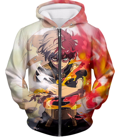 My Hero Academia Being the Best Shoto Todoroki Half Cold Half Hot Hero Action T-Shirt MHA070