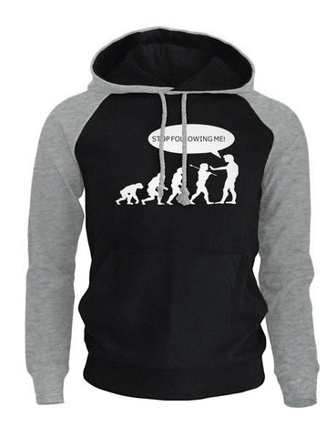 Casual Print Following Me Caveman Men's Hoodie