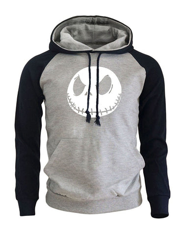 Print Jack Skellington Evil Face Men's Hoodie