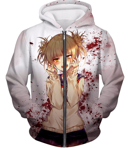 My Hero Academia Cute and Dangerous Anime Villain Himiko Toga Awesome White T-Shirt MHA093