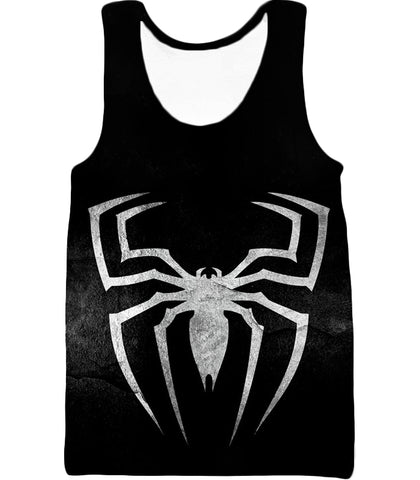 Image of Black Spider-Man Venom Promo Logo Hooded Tank Top VE043