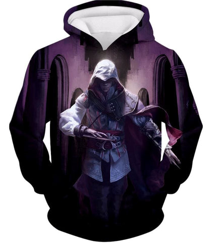 Ultimate Fighter Ezio Auuditore De Firenze Cool Action Promo Hooded Tank Top Ac044 - Hoodie / Us Xxs (Asian Xs) - Hooded Tank Top