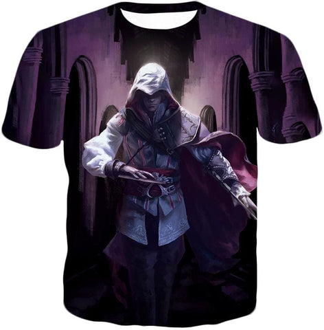 Ultimate Fighter Ezio Auuditore De Firenze Cool Action Promo Hooded Tank Top Ac044 - T-Shirt / Us Xxs (Asian Xs) - Hooded Tank Top