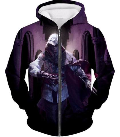 Ultimate Fighter Ezio Auuditore De Firenze Cool Action Promo Hooded Tank Top Ac044 - Zip Up Hoodie / Us Xxs (Asian Xs) - Hooded Tank Top