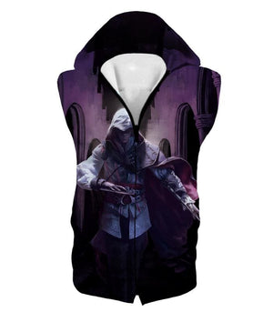 Ultimate Fighter Ezio Auuditore De Firenze Cool Action Promo Hooded Tank Top Ac044 - Hooded Tank Top / Us Xxs (Asian Xs) - Hooded Tank Top