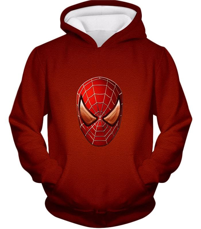 Amazing Spiderman Mask Promo Red Sweatshirt Sp045 - Hoodie / Us Xxs (Asian Xs) - Sweatshirt
