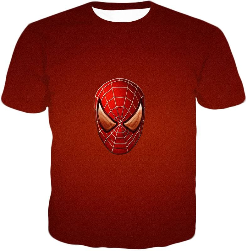 Amazing Spiderman Mask Promo Red Sweatshirt Sp045 - T-Shirt / Us Xxs (Asian Xs) - Sweatshirt