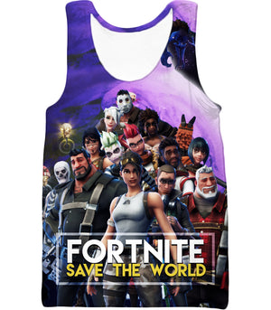 Fortnite Tank Top Save the World All Heroes Promo
