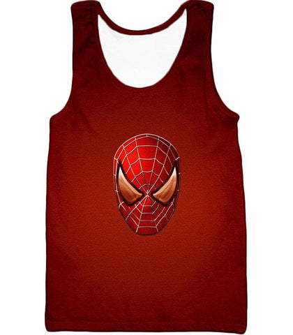 Image of Amazing Spiderman Mask Promo Red Sweatshirt Sp045 - Tank Top / Us Xxs (Asian Xs) - Sweatshirt