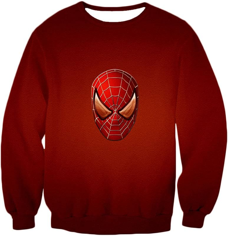 Amazing Spiderman Mask Promo Red Sweatshirt Sp045 - Sweatshirt / Us Xxs (Asian Xs) - Sweatshirt