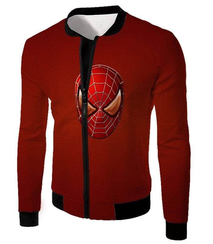 Amazing Spiderman Mask Promo Red Sweatshirt Sp045 - Jacket / Us Xxs (Asian Xs) - Sweatshirt