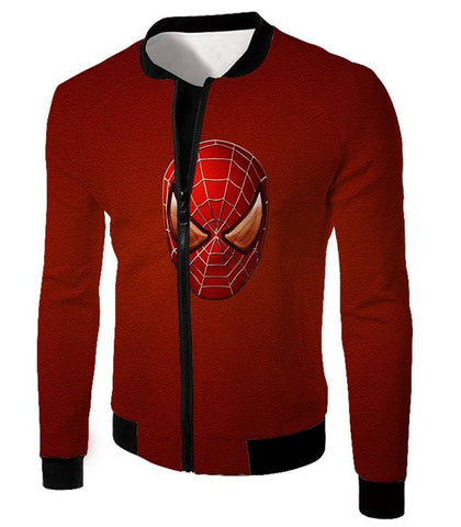 Image of Amazing Spiderman Mask Promo Red Sweatshirt Sp045 - Jacket / Us Xxs (Asian Xs) - Sweatshirt