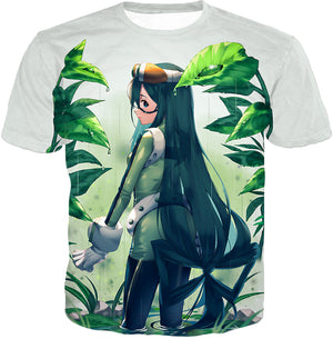 My Hero Academia Super Cool Hero Froppy Tsuyu Asui Awesome Anime White T-Shirt MHA096