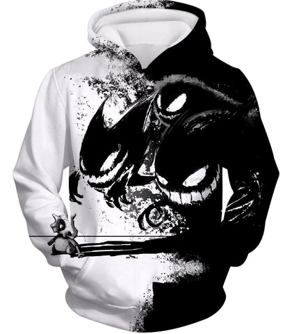 Image of Pokemon Ghost Pokemon Trio Haunter Gengar and Ghastly Cool Zip Up Hoodie PKM005