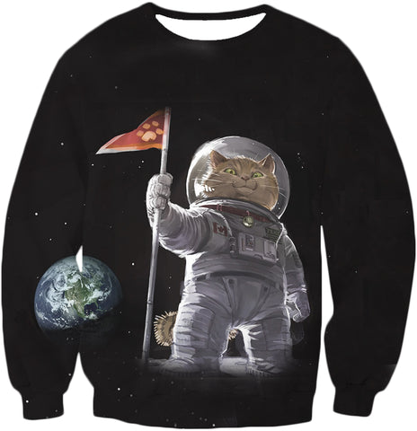 Image of Apollo Cat On The Moon T-Shirt