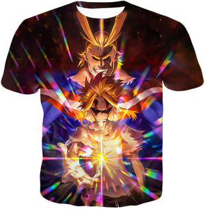 My Hero Academia Number One Hero All Might One for All Holder Cool Anime Graphic T-Shirt MHA057