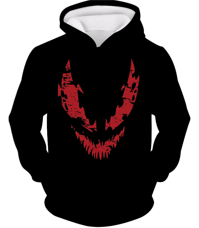 Blood Red Spiderman Villain Carnage Promo Black Hooded Tank Top SP071