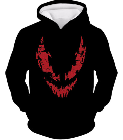 Image of Blood Red Spiderman Villain Carnage Promo Black Hooded Tank Top SP071