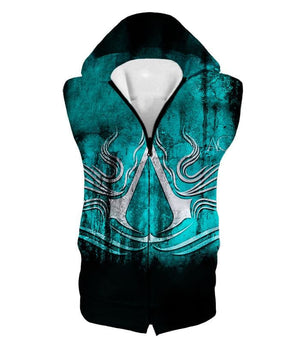 Ultimate Assassins Creed Logo Awesome Graphic Promo Hooded Tank Top Ac009 - Hooded Tank Top / Us Xxs (Asian Xs) - Hooded Tank Top