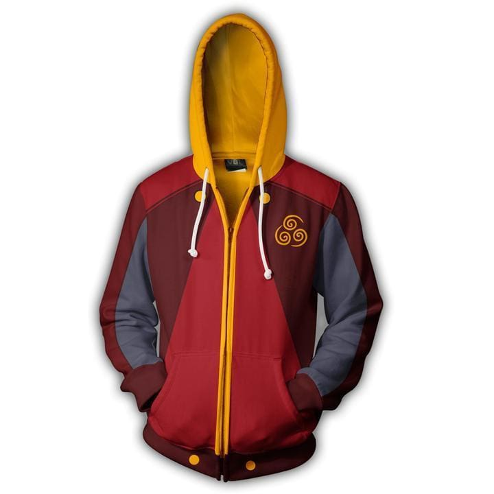 Avatar The Last Airbender Air Nation Zip Up Hoodie Jacket - Cosplay Jacket
