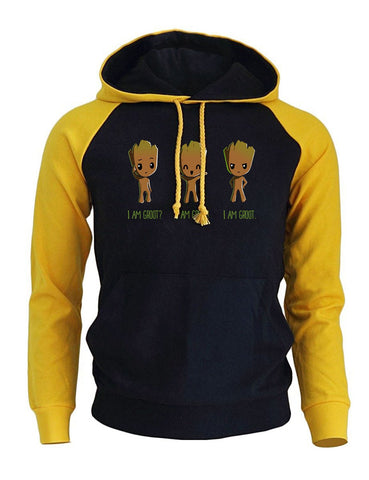 Image of I'm Groot Cartoon Print Men's Hoodie