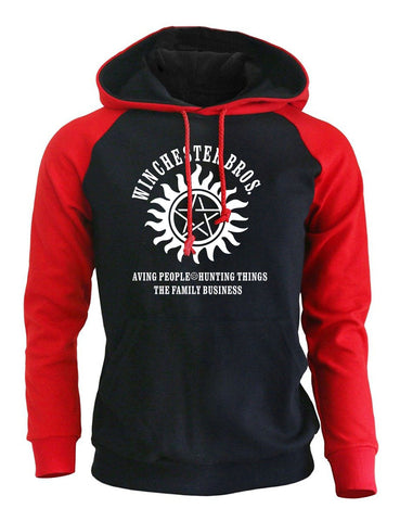 Image of Print Winchester Bros Hip Hop Men's Hoodie