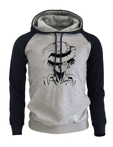 One Piece Anime Cartoon Print Men's Hoodie