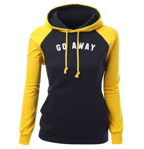Letter Print Go Away Fashion Women's Hoodie