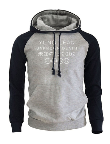 Yung Lean Unknown Death Letter Print Men's Hoodie