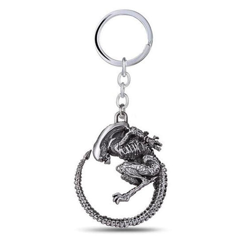 Image of Alien High Quality Charm Retro Metal Alloy Pendant Keychain - Accessories