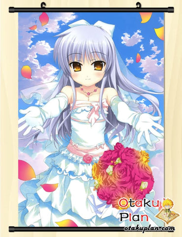 Image of Angel Beats Tachibana Kanade Lovely Bride Wall Scroll Poster - Poster