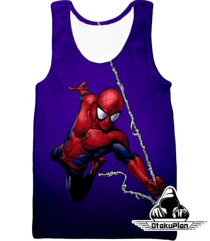 Image of Animated Web Shooter Spiderman Action Purple Jacket Sp039 - Tank Top / Us Xxs (Asian Xs) - Jacket