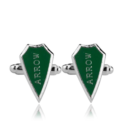 Image of Arrow Jewelry Popular Men And Women Green Classic Cufflinks - Accessories