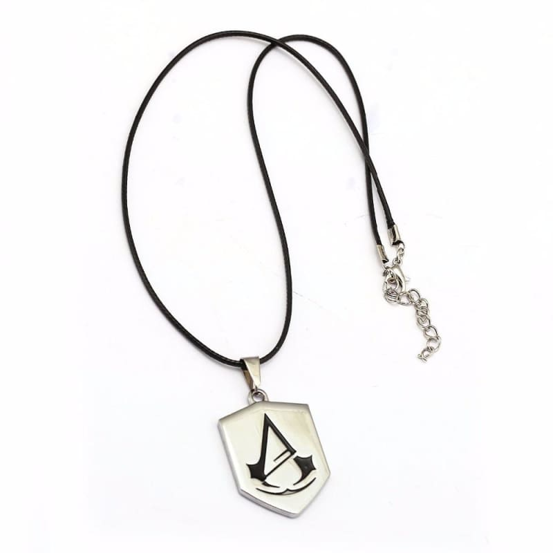 Assassins Creed Necklace Silver Alloy Assassins Creed Pendant Necklace - Accessories