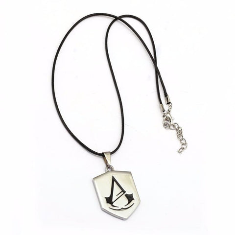 Image of Assassins Creed Necklace Silver Alloy Assassins Creed Pendant Necklace - Accessories