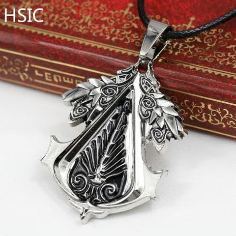 Image of Christmas Gift Game Assassins Creed Pendants Metal Alloy Necklace - Accessories