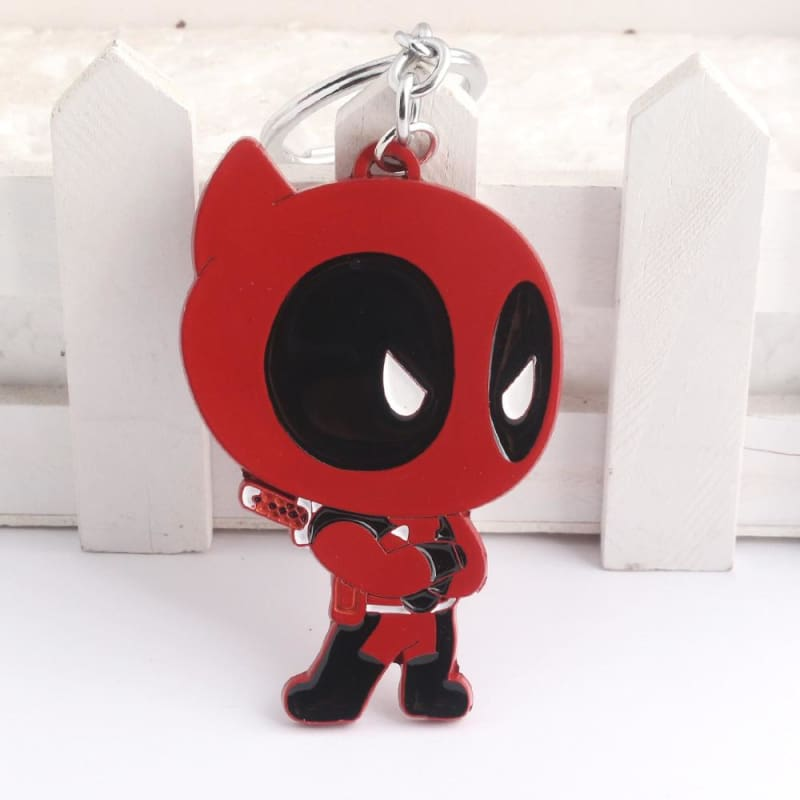 Deadpool Figure Zinc Alloy Enamel Metal Pendant Keyring - Accessories