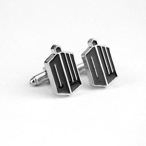 Image of Dr Who Blue Police Box &antique Golden Black Cufflinks - White K - Accessories