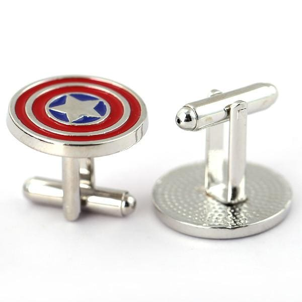 JEWELRY Metal Alloy Superhero Cuff Link Superman Spider-Man Iron Man Captain America Cuff Buttons size 2cm*2cm-OtakuPlan