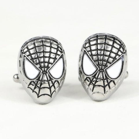Image of JEWELRY Metal Alloy Superhero Cuff Link Superman Spider-Man Iron Man Captain America Cuff Buttons size 2cm*2cm-OtakuPlan