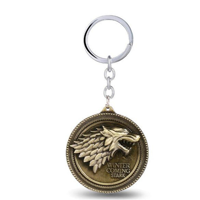 House Stark Key Chain Song Of Ice And Fire Key Rings Holder-OtakuPlan