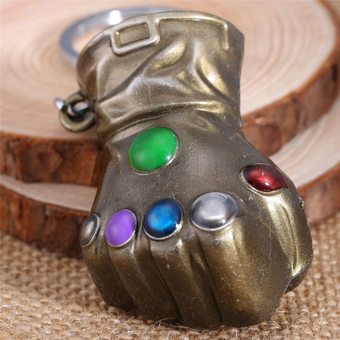 Image of The Infinity Gauntlet Thanos Metal Alloy Gold Key Chain-OtakuPlan
